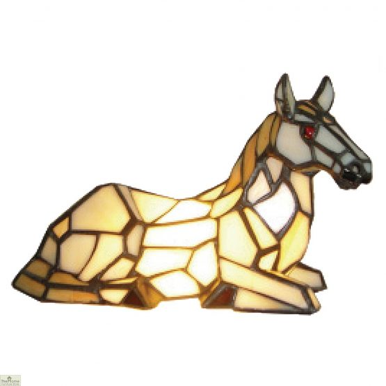 Tiffany Horse Table Lamp