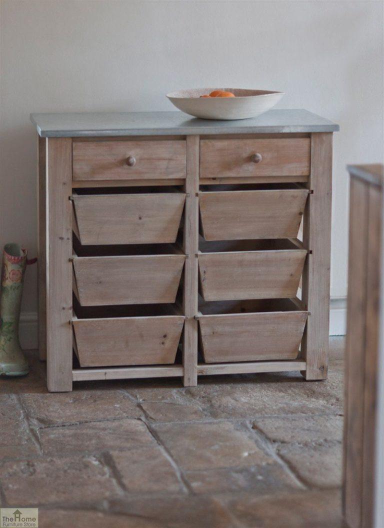 Spruce Wood 8 Drawer Storage Unit_1