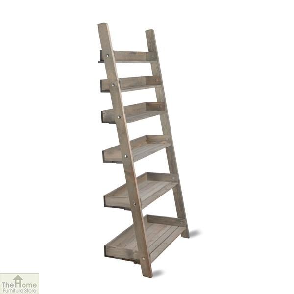 Large Oak Ladder Shelf