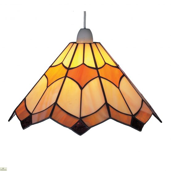 Beige Brown Seeded Glass Shade