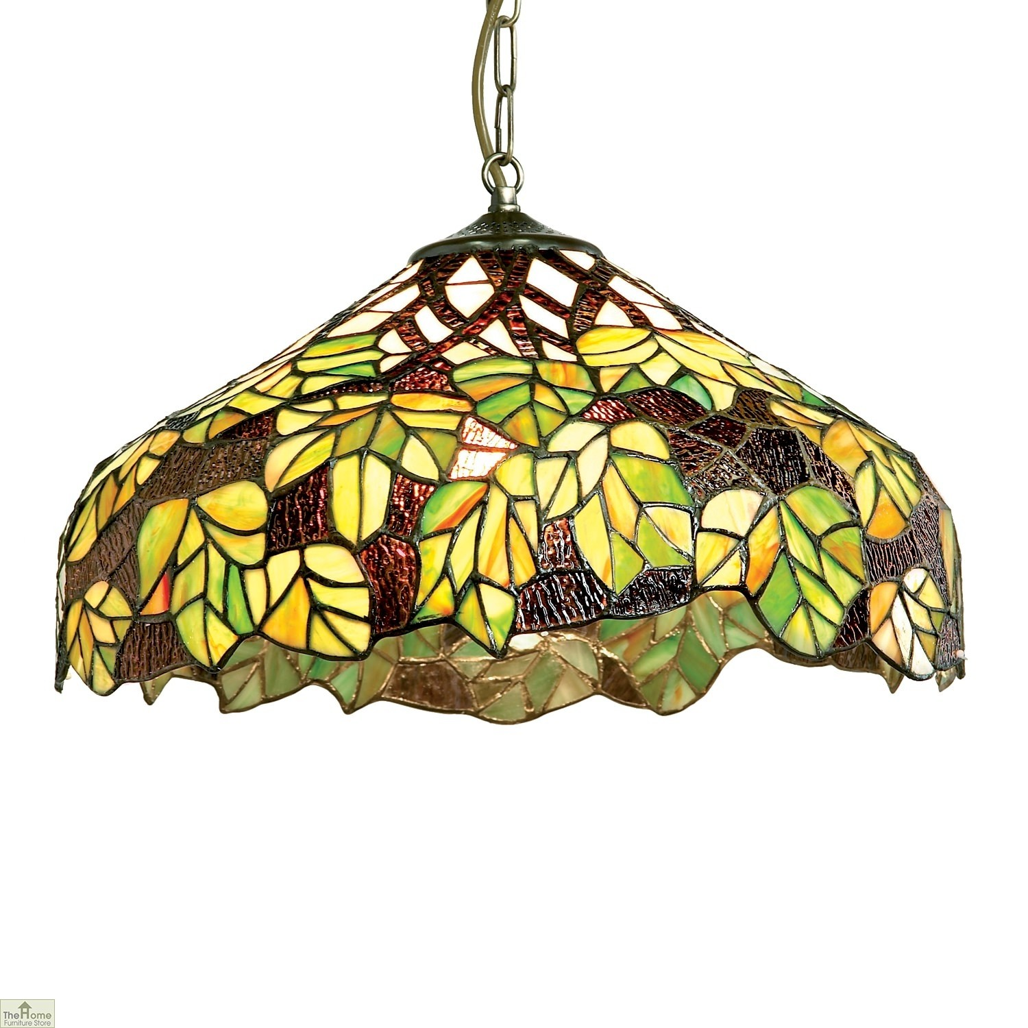 Green Maple Leaf Pendant Light Shade