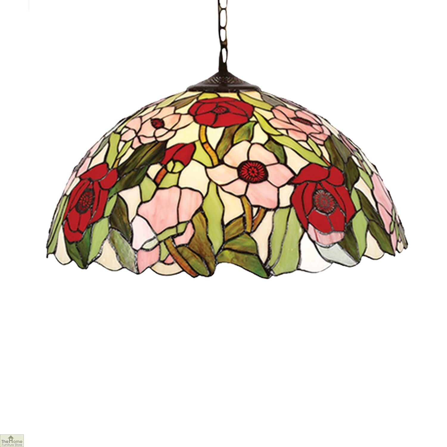 Tiffany Style Poppy Pendant Shade The Home Furniture Store
