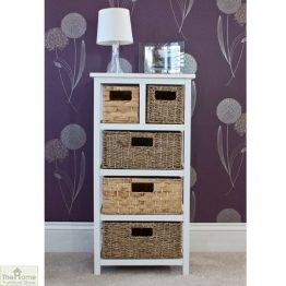 Camber Natural 5 Drawer Tallboy Unit_1