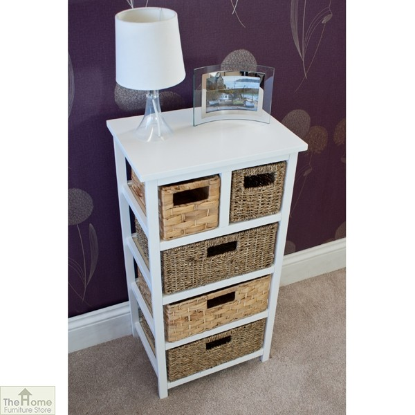 Camber Natural 5 Drawer Tallboy Unit_4