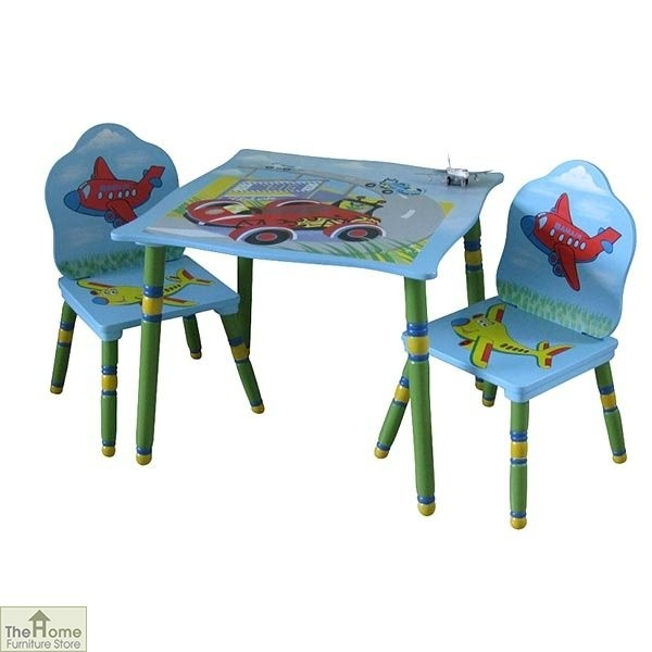 Childrens Blue Table and Chairs Set