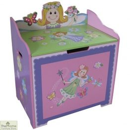 Childrens Pink Fairy Toy Box