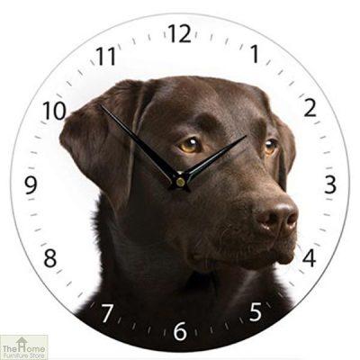 Chocolate Brown Labrador Wall Clock