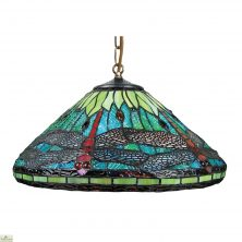 Aqua Blue Dragonfly Light Shade