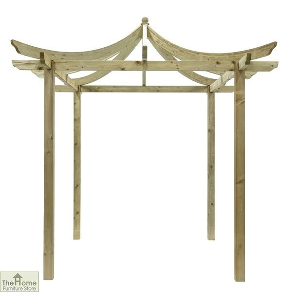 Oriental Wooden Garden Pergola_2