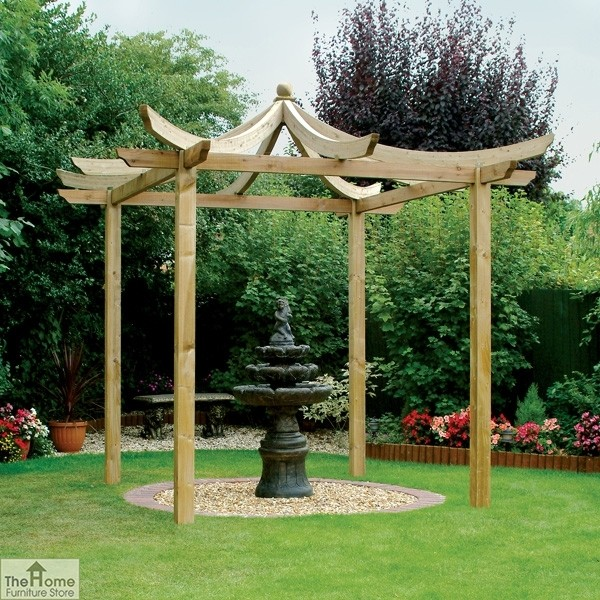 oriental wooden garden pergola the home furniture store. Black Bedroom Furniture Sets. Home Design Ideas