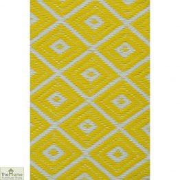 Eco-Friendly Reversible Yellow Rug