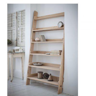 Large Oak Ladder Shelf-2