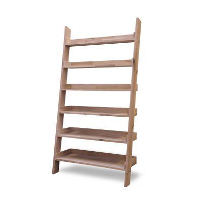 Large Oak Ladder Shelf-4
