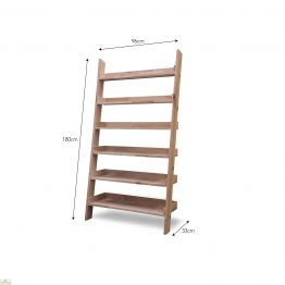 Large Oak Ladder Shelf