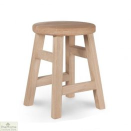 Raw Oak Small Stool