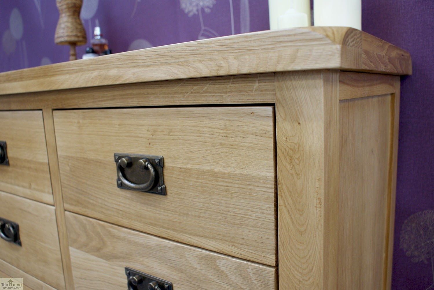Farmhouse 7 drawer chest the home furniture store for Bedroom furniture soft close drawers