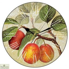 Golden Plum Wall Clock