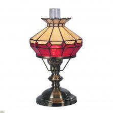 Beige Red Oil Style Table Lamp