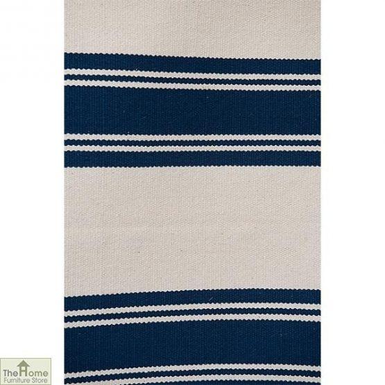 Cotton Patterned Reversible Blue Rug