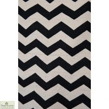 Handwoven ZigZag Reversible Patterned Rug