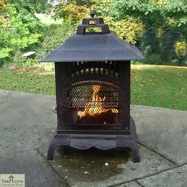Small Square Pressed Steel Fire Pit_1