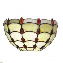 Tiffany Style Amber Jewel Wall Light