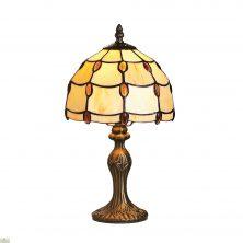 Tiffany Style Amber Jewel Table Lamp