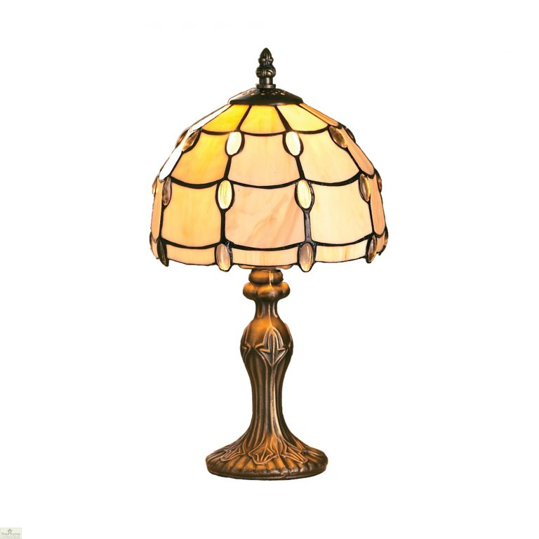 Tiffany Style Pearl Jewel Table Lamp