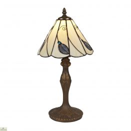 Beige Blue Leaf Table Lamp