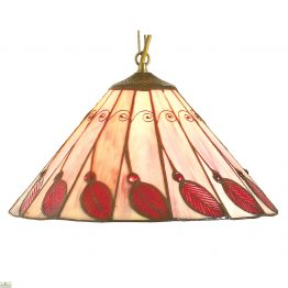 Red Leaf Peach Background Shade