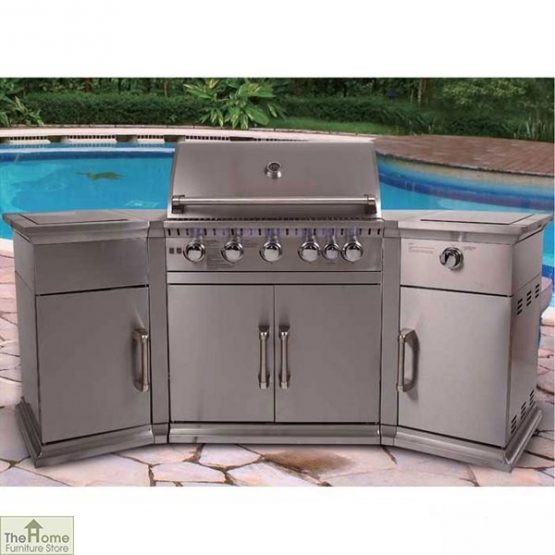 Bahama Stainless Steel 5 Burner BBQ_1