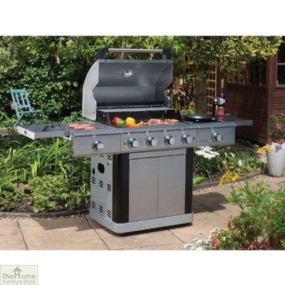 St Lucia 4 Burner Stainless Steel Gas BBQ_1