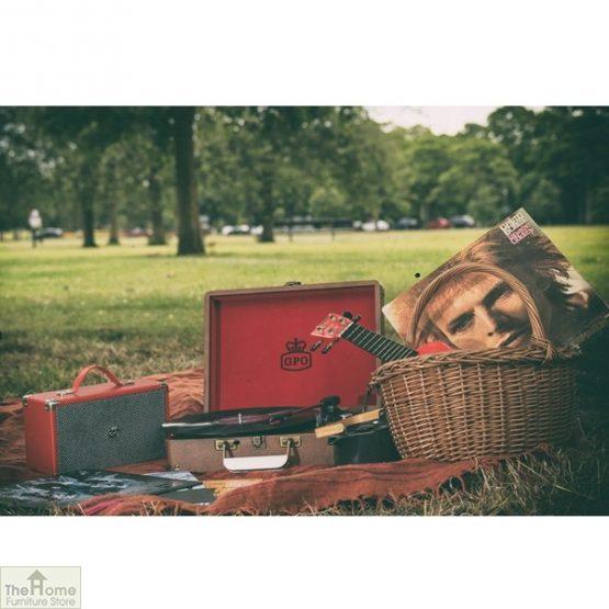 Portable Vintage Case Record Player_10