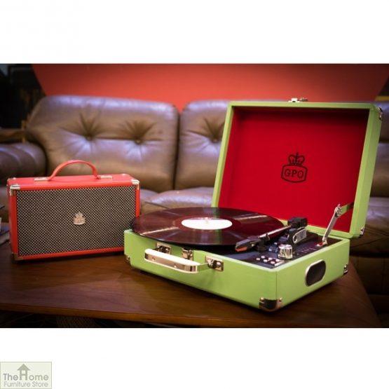 Portable Vintage Case Record Player_12