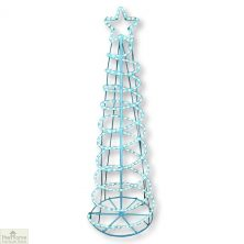 Blue Spiral Christmas Tree Rope Light