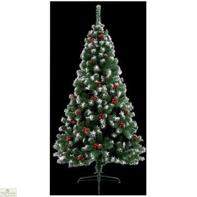 1.8m Berry And Pine Snow Tipped Christmas Tree