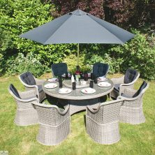 Casamoré Madrid Round 8 Seater Dining Set