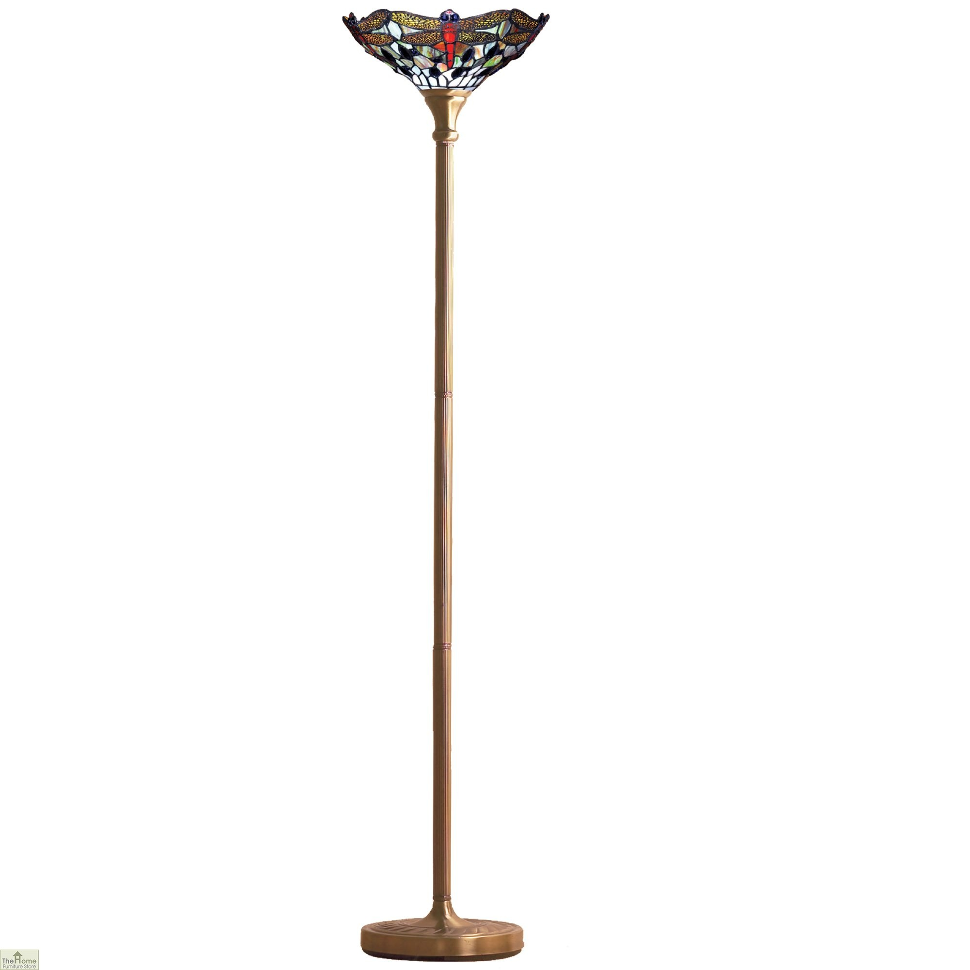 Dragonfly Torchiere Free Standing Light