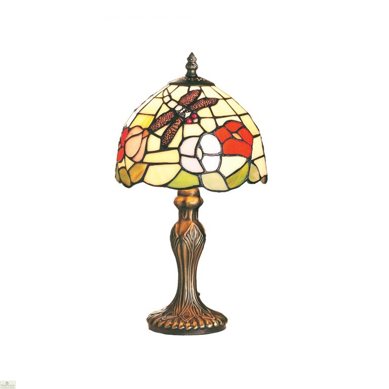 Beige Dragonfly Tiffany Lamp