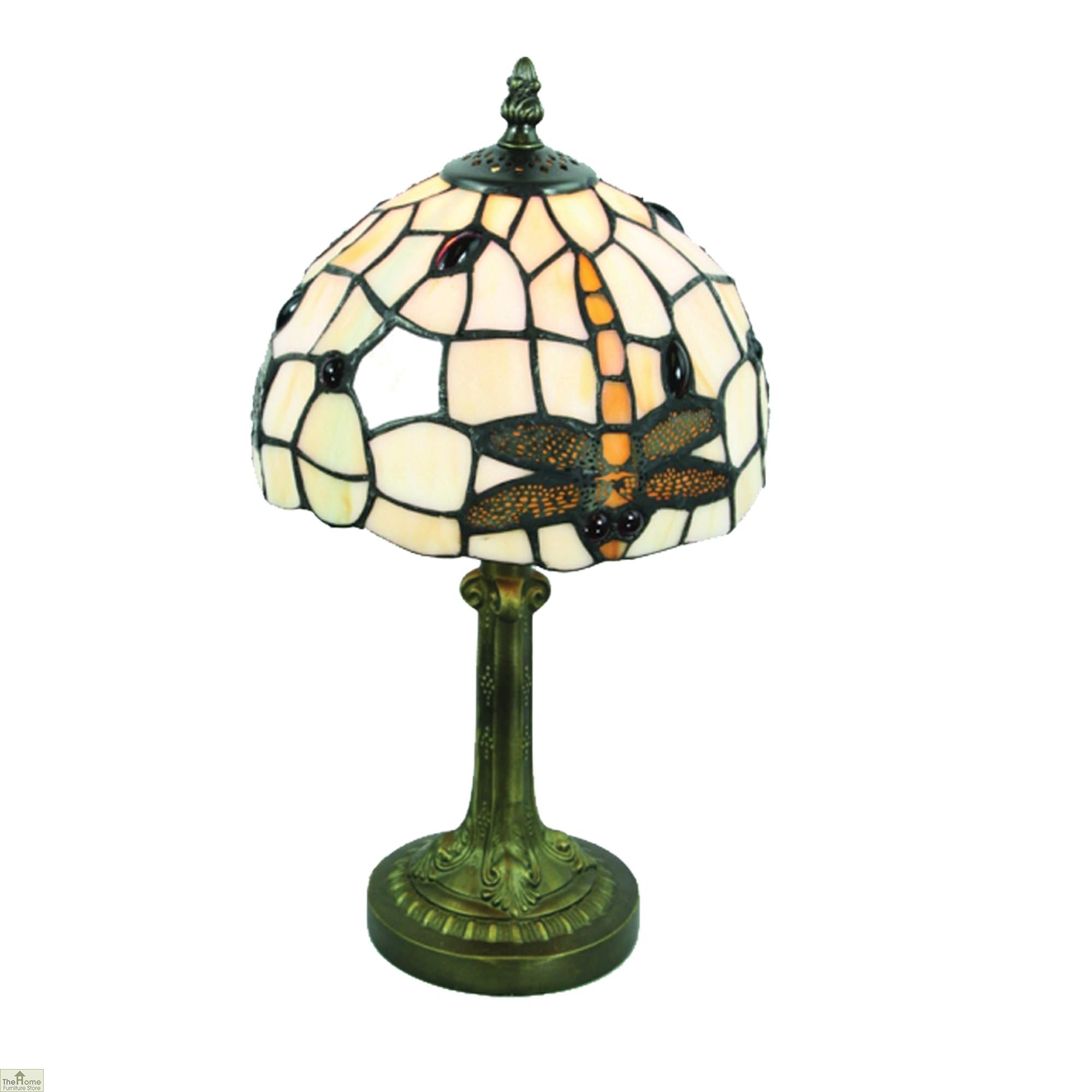 Brown Dragonfly Tiffany Table Lamp