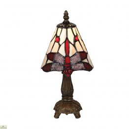 Red Tiffany Dragonfly Table Lamp