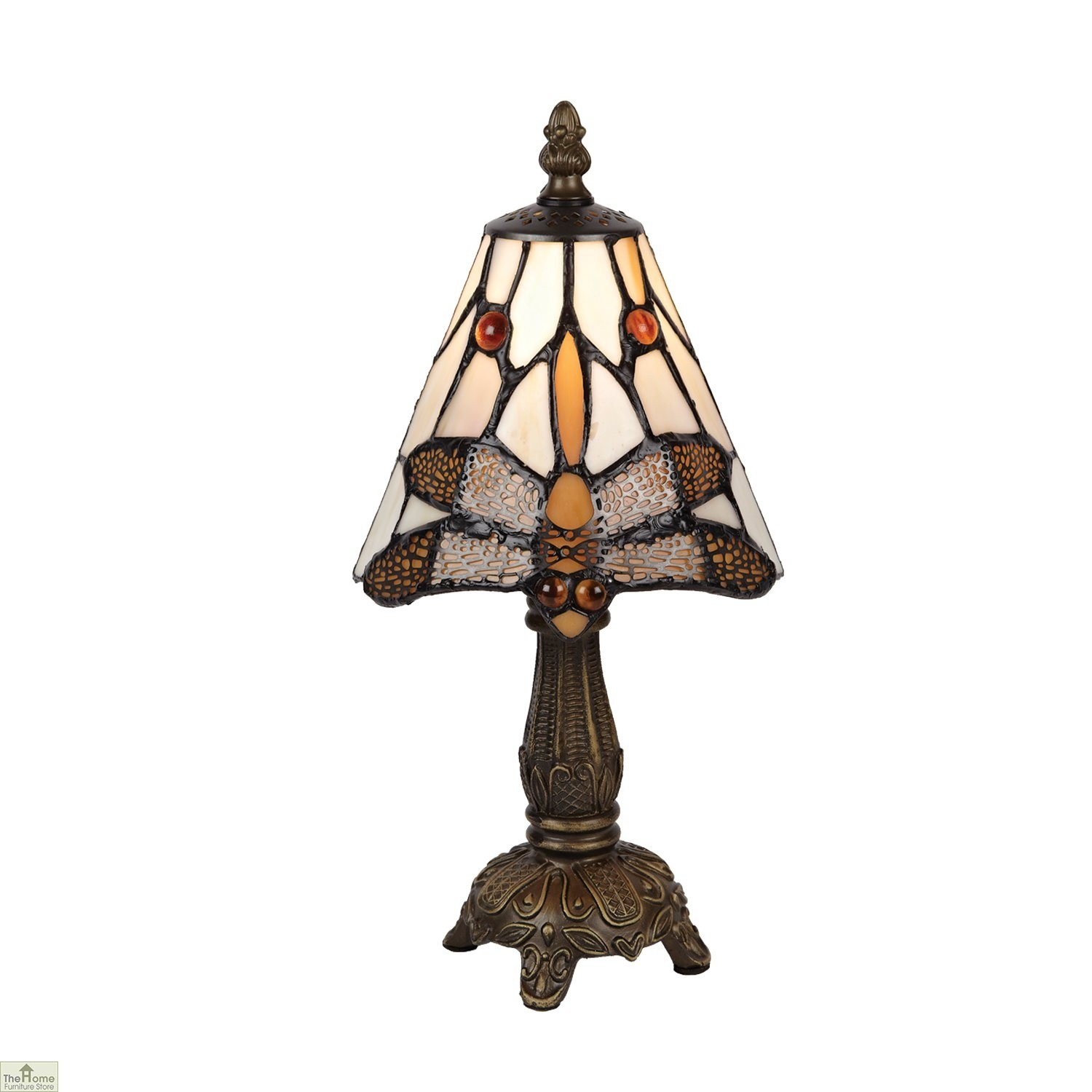 Brown Tiffany Dragonfly Table Lamp » HFS In Eastbourne