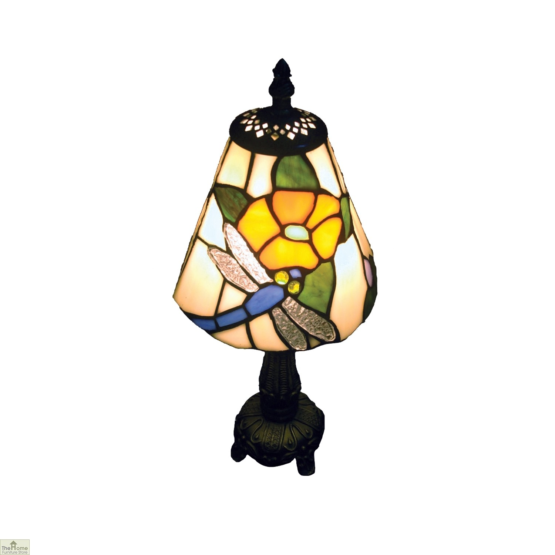 Blue Tiffany Style Dragonfly Lamp