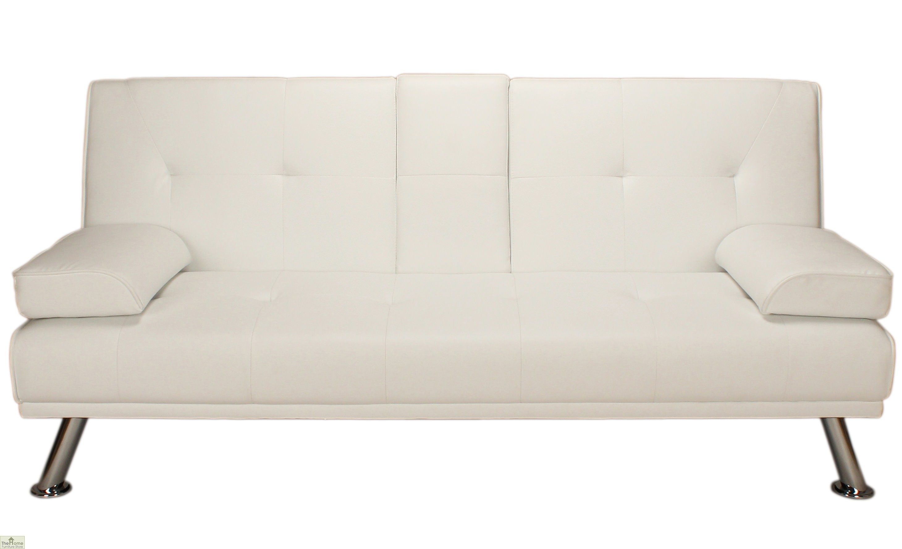 Vienna Sofa Bed Faux White Leather The Home Furniture Store