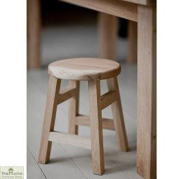Raw Oak Small Stool_1