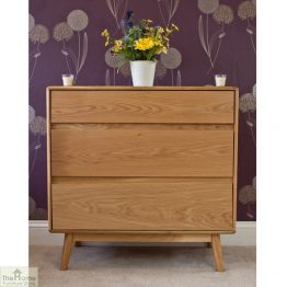 Casamoré Retro Style Oak 3 Drawer Chest_1