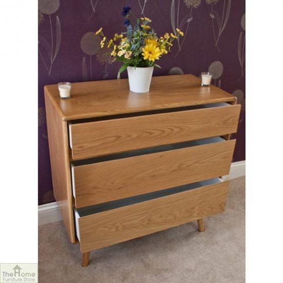 Casamoré Retro Style Oak 3 Drawer Chest_5