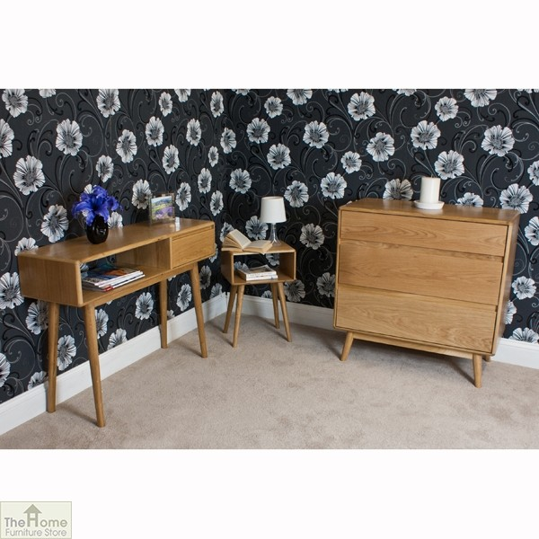 Casamor retro style oak side table unit the home furniture store Home furniture outlet uk