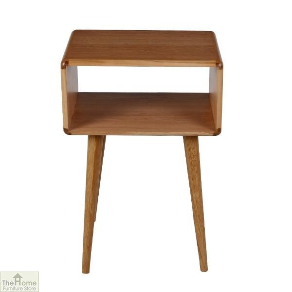 Casamoré Retro Style Oak Side Table Unit