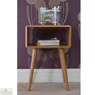 Retro Style Oak Bedside Table_2